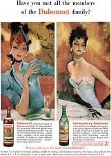 Jean Gabriel Domergue DUBONNET VERMOUTH French Girls PARIS 1960 Magazine Ad