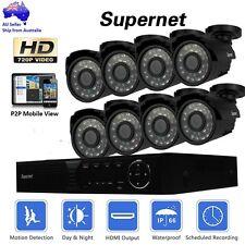 SUPERNET 8CH DVR HD Outdoor CCTV Video Security System 720p 1400TVL Camera