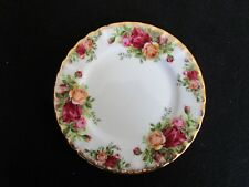 "ROYAL ALBERT Old Country Roses Bread Plate 6 1/4"" Old Backstamp Fluted England"