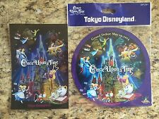TOKYO DISNEYLAND LIMITED EDITION ONCE UPON A TIME STICKER/POSTCARD RARE/LIMITED