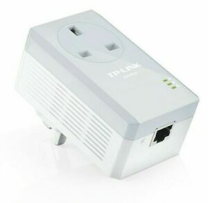 TP-Link AV500 Powerline Adapter with AC Pass Through TL-PA4010P Single Plug