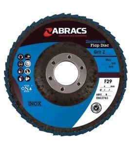 Zirconium Flap Discs - P40 - 115mm- Pack Of 10  ABRACS