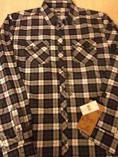Modern Culture Men's Shirt Black Plaid 2 Pocket Shirt XXL NWT
