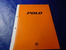 VW Polo 1 Typ 86 Prospekt Katalog 1/1977 40 bis 60 PS L GL GLS
