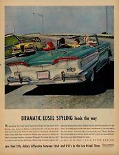 1958 Edsel Convertible Original Advertisement - Teletouch Drive, Intro Year