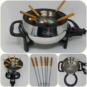 Rival Electric Fondue Pot FD350S Stainless Steel - Chocolate - cheese - 3L
