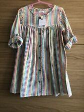 Girls Next Rainbow Stripe Shirt Dress Age 4-5