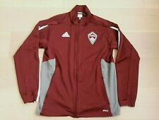 COLORADO RAPIDS MLS ADIDAS CLIMACOOL WARM-UP SOCCER LONG-SLEEVE BURGUNDY MEN M
