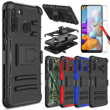 For Samsung Galaxy A21 / A11 Case With Stand Clip Phone Cover / Screen Protector