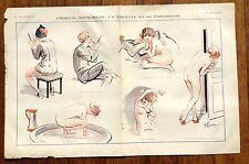 1920 La Vie Parisienne French Magazine Centerfold -- The Toilet of a Parisian