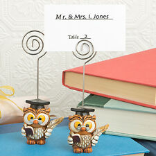 1 Graduation Wise Owl Place Card Holder Graduate Favor Party Poly Resin Cute