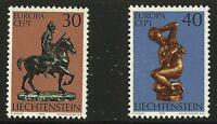 Liechtenstein Scott #543-44, Singles 1974 Complete Set FVF MNH