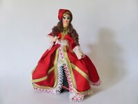 Vintage Belgian Fabric Gypsy Doll, Mid Century Souvenir Doll, 1950s Kitsch Decor
