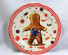 NEW Anthropologie Nathalie Lete GINGERBREAD Dinner Plate Holiday Christmas