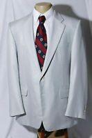 Hickey Freeman Men's Wool Silk Side Vent Striped Sport Coat Jacket Blazer 42R