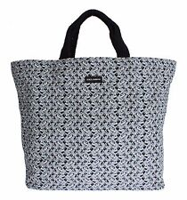 NWT $700 DOLCE & GABBANA Mens Blue Car Print Cotton Denim Hand Shopping Gym Bag