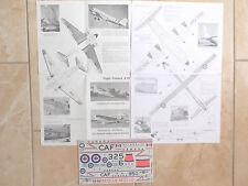"CC-130 HERCULES/CC-129 DAKOTA ""2RCAF"" FLIGHT COLOURS DECALS 1/72"