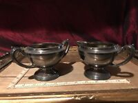 Vintage Benedict Proctor Mfg. Silver-Plated Cream and Sugar Bowls #304