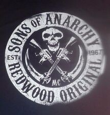 LARGE MEN'S BLACK T-SHIRT ** SONS OF ANARCHY SOA ** REDWOOD ORIGINAL ** MC 1967