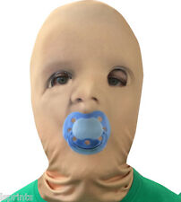 BABY FACE BLUE DUMMY 3D EFFECT FACE SKIN LYCRA  FACE MASK HALLOWEEN GRIM REAPER