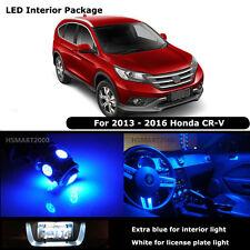 8PCS Blue Interior LED Bulbs For 2013 -  2016 Honda CR-V CRV White for License