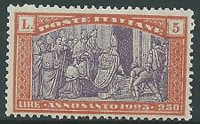 1924 REGNO ANNO SANTO 5 LIRE MNH ** - Y202