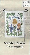 """Home Decor Garden Flag (Sounds of Spring) 11""""x15"""""""