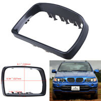Left Side Door Wing Mirror Cover Cap Trim Ring Fit For BMW E53 X5 2000-2006