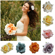 Bridal Hair Flower Rose Corsage Hair Clip Bridal Bridesmaid Brooch Small New