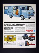1962 Ford Econoline Vans blue bakery delivery van art vintage print Ad