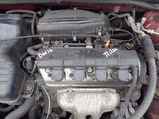 HONDA CIVIC 1.6 ENGINE D16W7 2001 - 2005 72,266 MILES FITS 2001 - 2005
