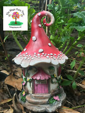 Solar Enchanted Fairy House lights up at night fairies decor door