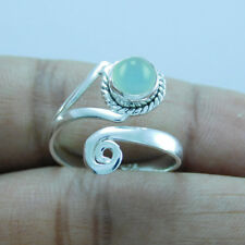 Adjustable Toe Ring tr-282 925 Sterling Silver Chalcedony
