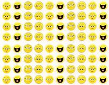80 Cute Yellow Imoji Stickers (Smilers Happy Face Sticker Sheet)