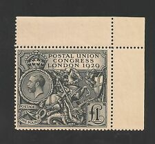 Great Britain #209 (SG #438) EF MNH - 1929 £1 UPU Congress - King George V