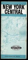 ⫸ 604 New York Central Railroad Passenger Timetable January 6, 1961