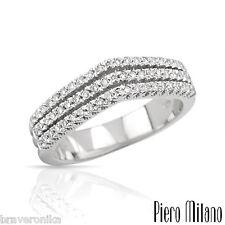 PIERO MILANO! ITALY 18K GOLD RING 0.39 CTW S/CLEAN G/VVS DIAMONDS, SIZE 6,5. NEW