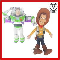 Toy Story Bundle Lot Buzz Lightyear and Woody Soft Toy Figure Disney Pixar
