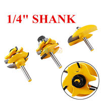 "3PCS 1/4"" Shank Ogee Raised Panel and Rail & Stile Router Bits Cutting Tools LJ"