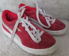 PUMA Suede Red Sneakers Youth Size 13 Style 355116-03