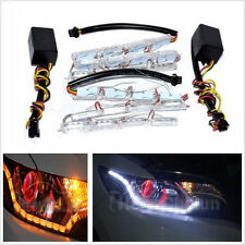 Car Exterior LED Light Dual Color DRL Daytime Running Signal Light Tearful Eyes