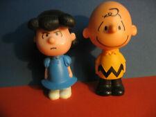 2 Peanuts Figuren Charly Brown und Lucy, ca. 10 cm groß