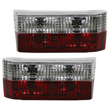 Rückleuchten Klarglas Heckleuchten VW Golf 1 Cabrio Bj. 79-93 Rot/Chrom