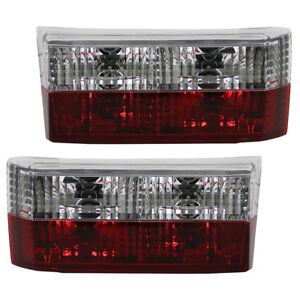 Rückleuchten Klarglas Heckleuchten für VW Golf 1 Cabrio Bj. 79-93 Rot/Chrom