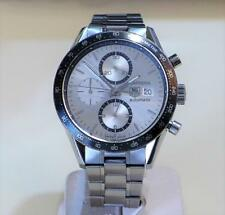 TAG HEUER CARRERA AUTOMATIC CALIBRE 16 SILVER DIAL CV2011-0 WRISTWATCH