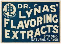 OLD ANTIQUE ADVERTISING SIGN CARDBOARD QUACK MEDICINE DR LYNA BLUE C1910 D1776