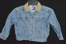 Tommy Hilfiger Blue Jean Denim Trucker Jacket Boys Girls Toddler Sz 4 Distressed
