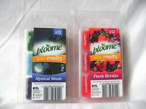 12x Bloome Wax Melts Scents For Oil Burner Fresh Fragrance 3 Scents in 1 Pack UK