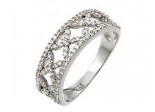 ST00955/925 STERLING SILVER ETERNITY WEDDING BAND /SZ 5 TO 9 / W/ DIAMONDS