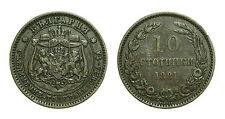 pcc1615_3) BULGARIA Alexander  I°  10 STOTINKI 1881